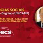 """Programa de Economia da Saúde (PECS) promove palestra """"Tecnologias sociais"""" nesta sexta-feira (08)"""